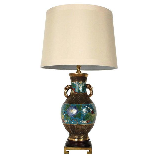 Bronze Champlevé Lamp - Image 2 of 8
