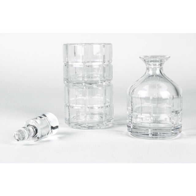 Cut Crystal Three Pieces Drinks Decanter For Sale In New York - Image 6 of 10