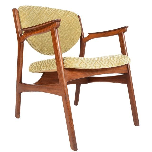 Danish Modern Rosewood & Mohair Armchair - Image 1 of 10