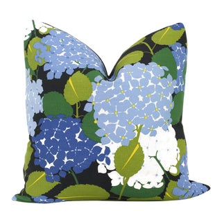 Schumacher Hydrangea Pillow Cover For Sale