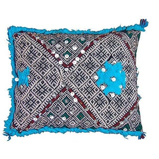 Blue & Green Moroccan Pillow Sham For Sale