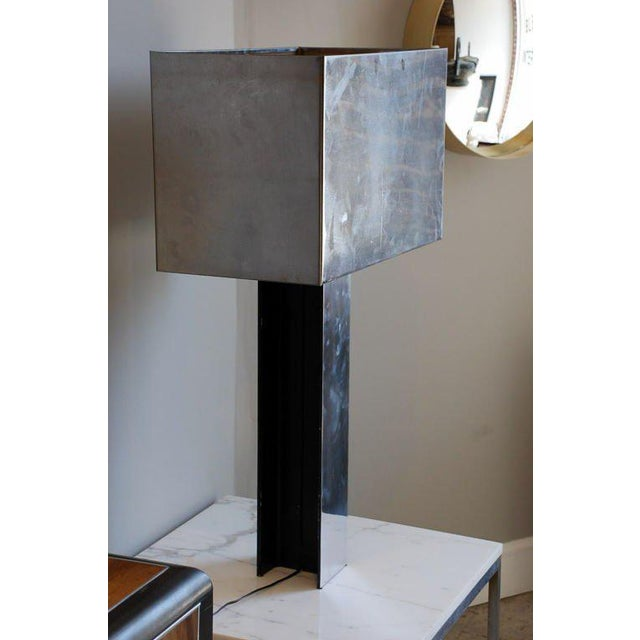 Curtis Jere Sculptural 1970s Chrome Table Lamp by Curtis Jere, Signed For Sale - Image 4 of 7