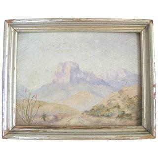 Plein Aire Desert Scene Oil Painting