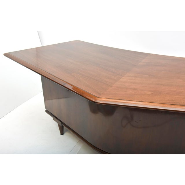 Fine American Modern Dark Walnut Executive Desk, Custom Made by Monteverdi Young For Sale - Image 10 of 10