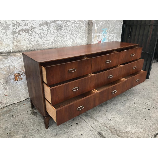 Mid-Century Vintage 9 Drawer Dresser - Image 3 of 5