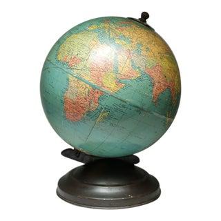 1940s World Globe With Metal Base