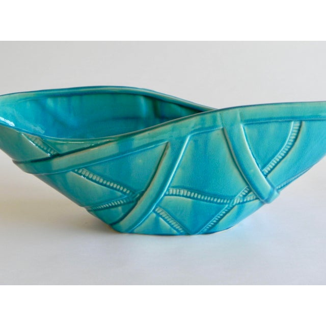 Global Views Global Views Aqua Strapped Bowl For Sale - Image 4 of 6