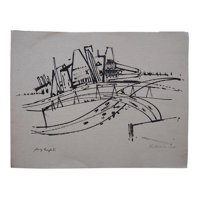 Jersey Turnpike-Pencil Signed - Image 1 of 3