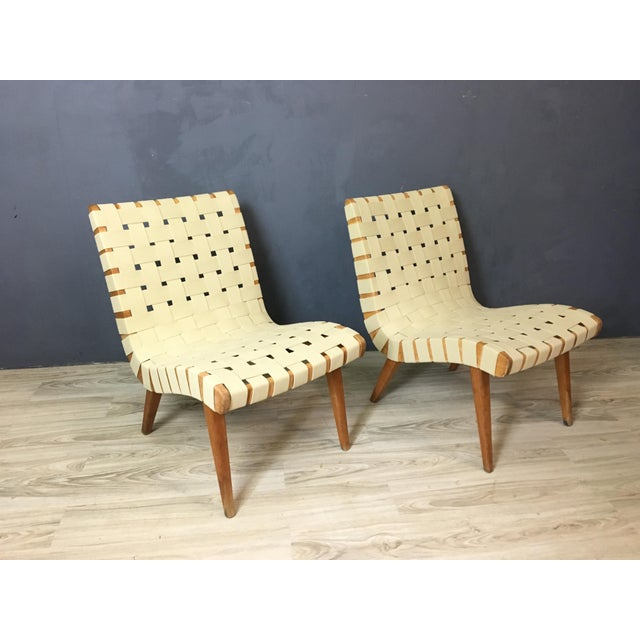 Pair of Mid Century Jen Risom Lounge Chairs - Image 2 of 6