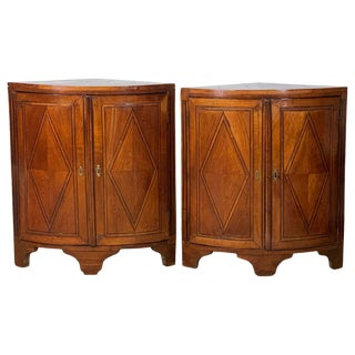 Pair of Late 18th Century French Encoigneurs 'Corner Cabinets' For Sale
