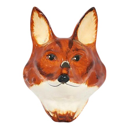 Figural Fox Mounted Wall Twine Holder - Image 1 of 4