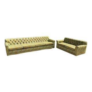 Mid-Century Modern Sofa and Loveseat Set For Sale