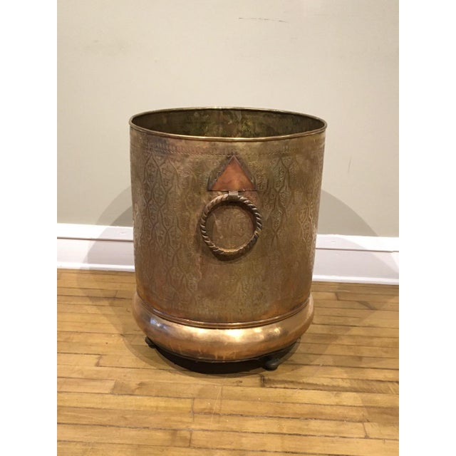 Islamic Late 20th Century Moroccan Brass Planter For Sale - Image 3 of 12