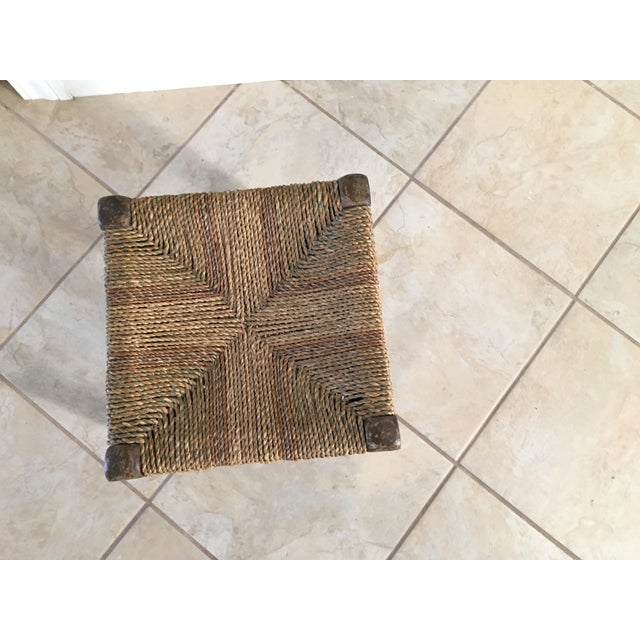 Rustic Rush Woven Small Foot Stool - Image 2 of 6