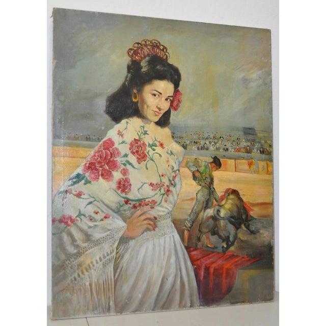 """Matador and the Señorita"" Oil on Canvas - Image 2 of 10"