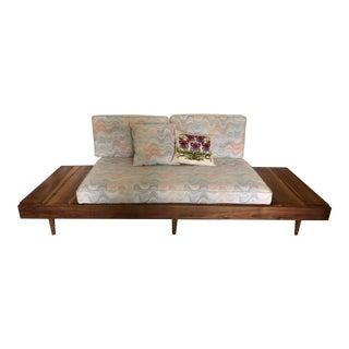 Mid-Century Modern Solid Walnut Platform Sofa