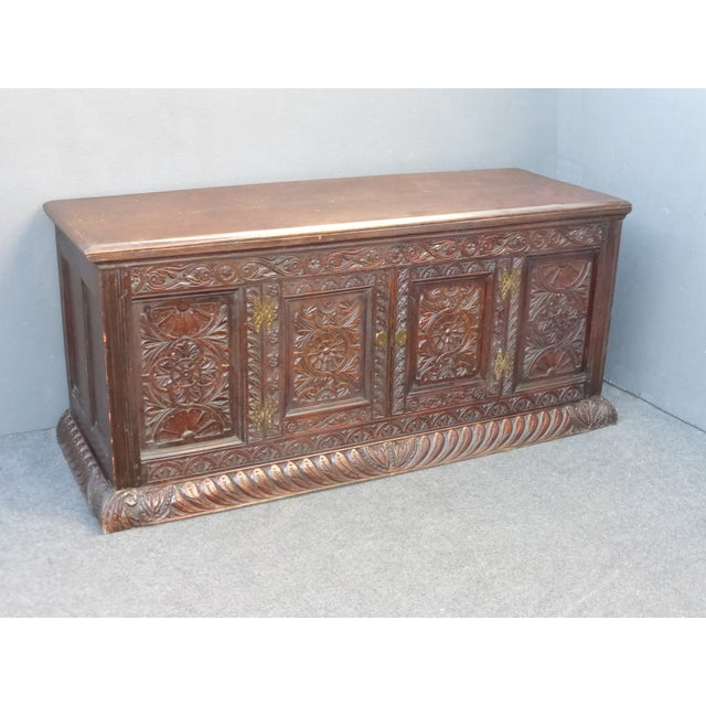 Antique European Detailed and Highly Carved Sideboard With Key - Image 2 of 10