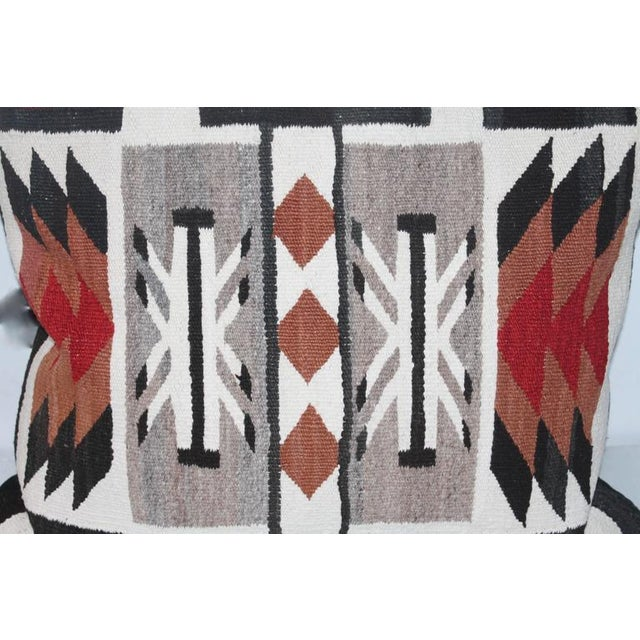 1950s Large Geometric Navajo Indian Weaving Pillow For Sale - Image 5 of 5