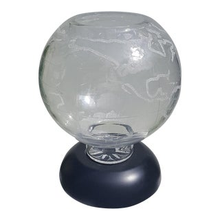 Waterford Crystal Times Square 2000 World Globe Centerpiece 149/2000 Patrick Brophy For Sale