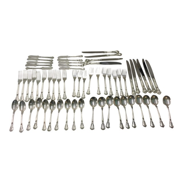 Gorham Chantilly Sterling Flatware Set For Sale