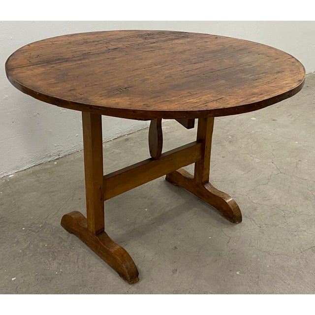 19th Century French Tilt Top Tavern or Wine Table For Sale In San Francisco - Image 6 of 9