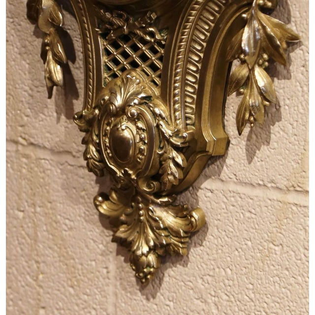 Late 19th Century 19th Century French Louis XVI Bronze Dore Cartel Wall Clock Signed Charpentier For Sale - Image 5 of 10