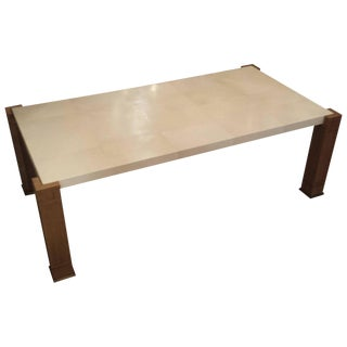 Exquisite Parchment and Cerused Oak Coffee Table