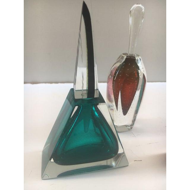 Art Deco Murano Perfume Bottles - Set of 3 For Sale - Image 3 of 12