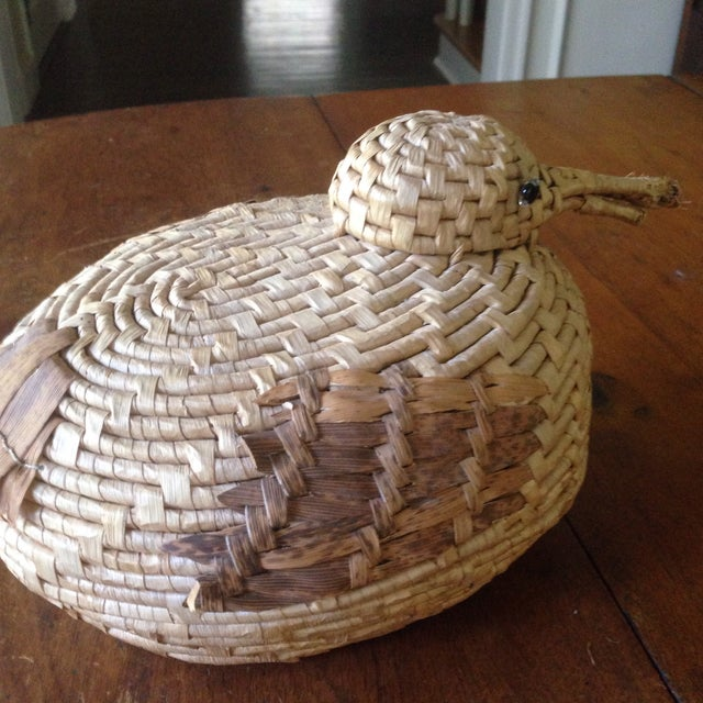 Vintage Natural Wicker/ Straw Bird Basket - Image 11 of 11