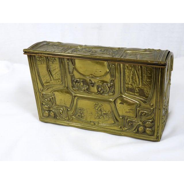 1900s 1900's Antique Brass & Wood Desk Letter Box For Sale - Image ... - 1900's Antique Brass & Wood Desk Letter Box Chairish