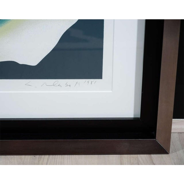 1980's Limited Edition White Rose Lithograph in Custom Frame by Lowell Nesbitt For Sale - Image 9 of 10
