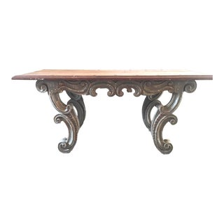 Spanish Colonial Wood Table From Peru For Sale