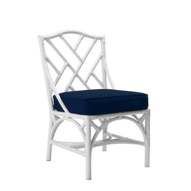Chippendale Chippendale Outdoor Side Chair - White For Sale - Image 3 of 3