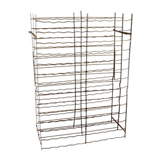 French Industrial Cage-Style Wine Rack For Sale