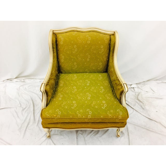 Vintage Hollywood Regency French Style Arm Chair - Image 6 of 11
