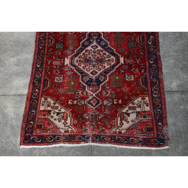 """Tribal Extra Large Persian Hand Woven Hamadan Runner - 16' X 4' 8"""" For Sale - Image 3 of 12"""