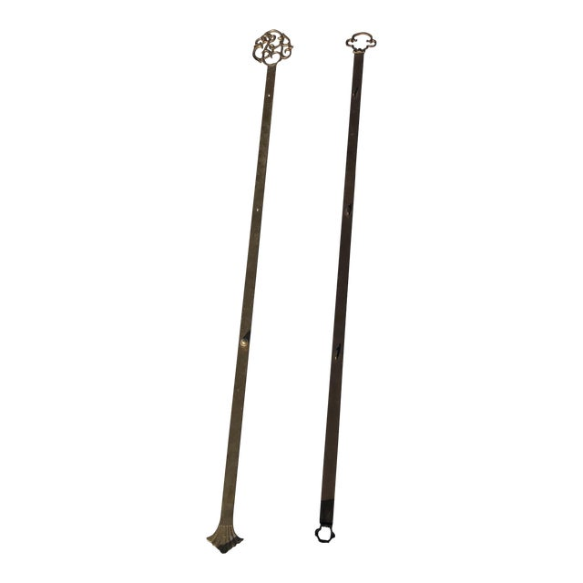 Brass Picture Plate Hangers/Decorative Wall Art - a Pair For Sale