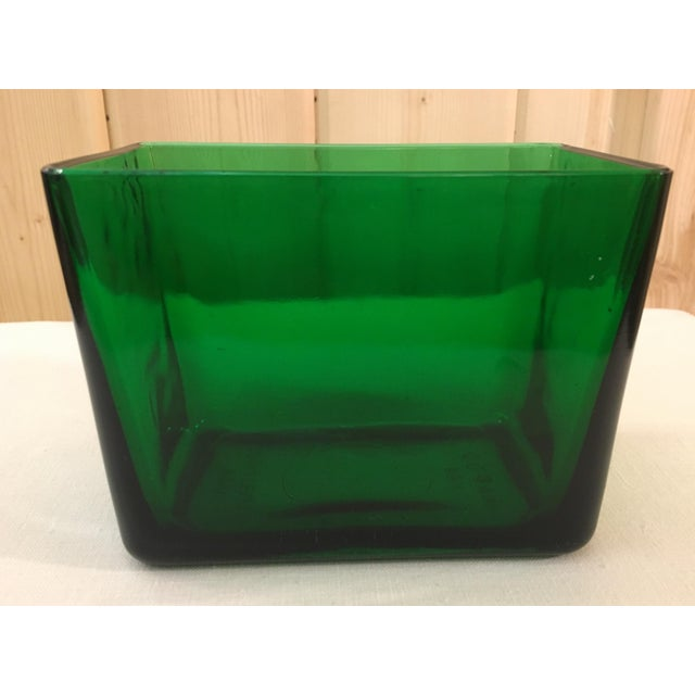 Mid-Century Emerald Green Glass Planter - Image 8 of 11