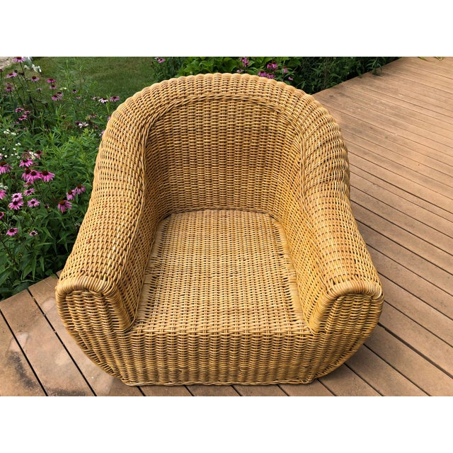 Vintage Wicker Orb Chair For Sale - Image 10 of 13
