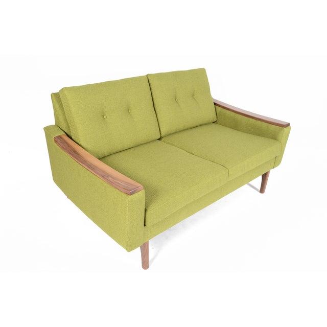 """Mid-Century Style """"Piedmont"""" Sofa in Avocado - Image 2 of 10"""