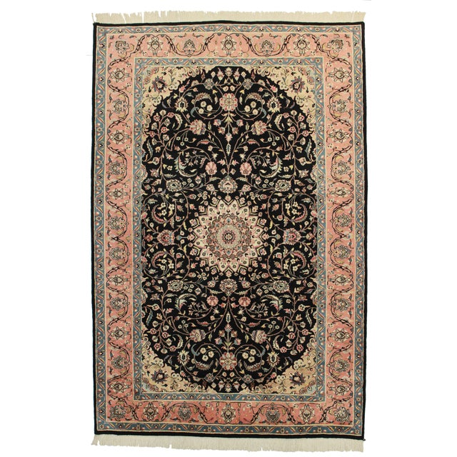 RugsinDallas Hand Knotted Wool Pakistani Style Rug - 6′ × 9′2″ For Sale