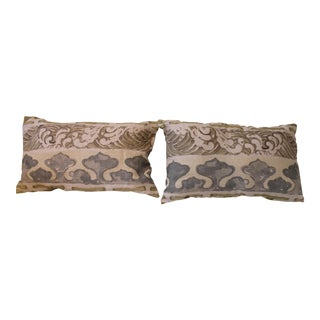Jim Thompson Enter the Dragons Fabric Pillows - A Pair For Sale