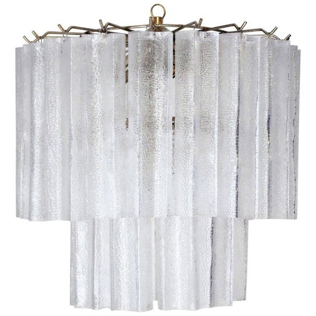 Tubular Chandelier by Venini For Sale In Palm Springs - Image 6 of 6