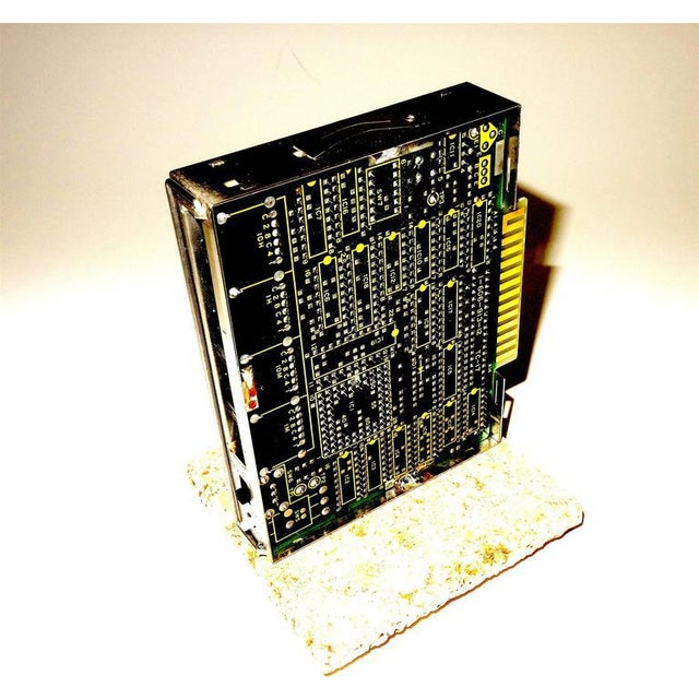Sony Circa Mid-20th Century Television Time Code Circuit Board on Stone For Sale In Dallas - Image 6 of 7