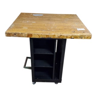 1960s Industrial Kitchen Island For Sale