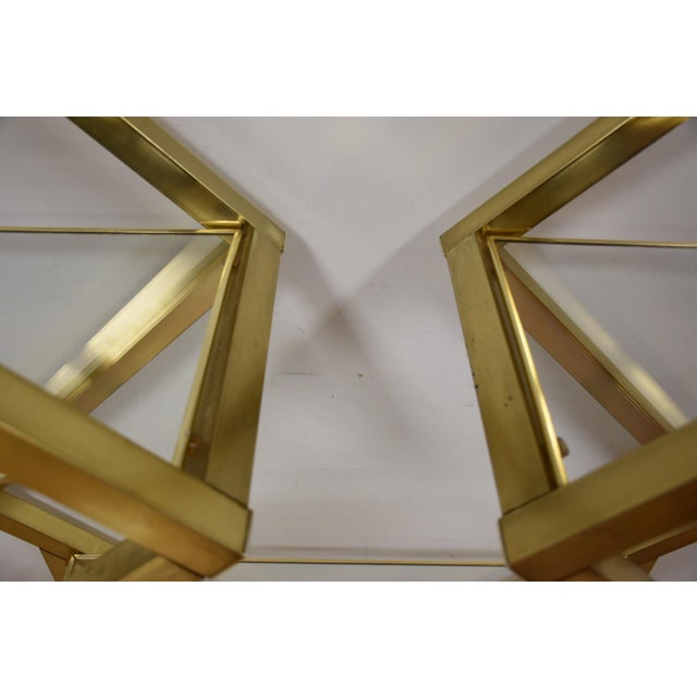 Milo Baughman Style Brass Etagere For Sale - Image 9 of 9
