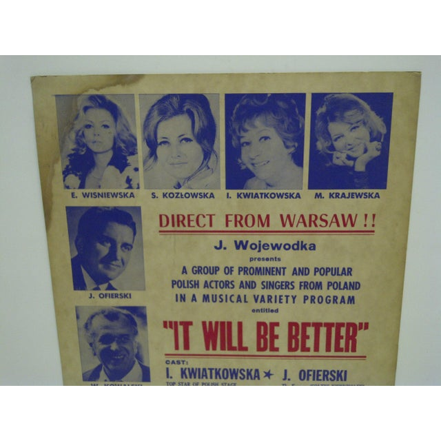 """Americana Vintage """"It Will Be Better"""" Poster For Sale - Image 3 of 5"""