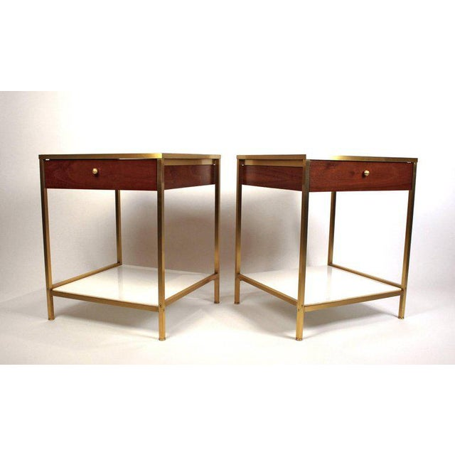 High end harvey probber milk glass brass and walnut midcentury harvey probber milk glass brass and walnut midcentury nightstands image 4 of 8 watchthetrailerfo