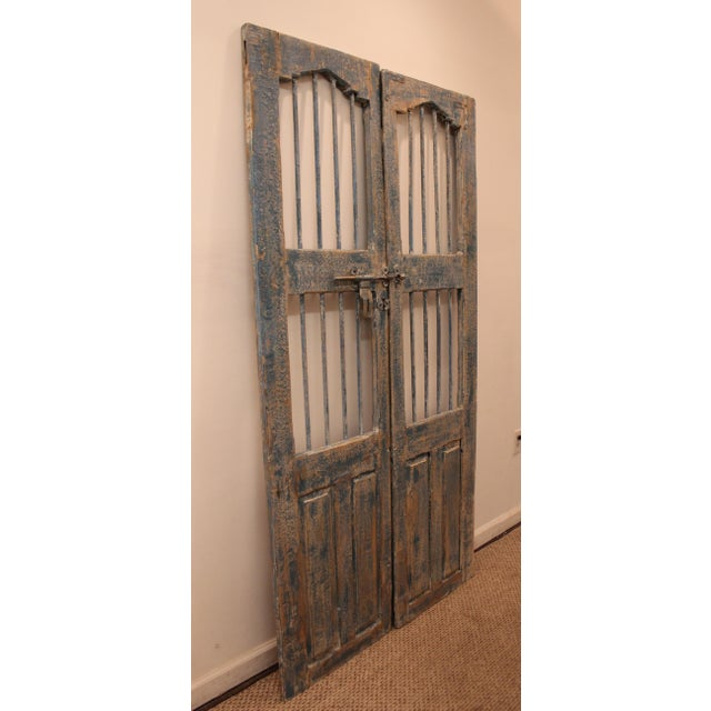 Reclaimed Architectural Wrought Iron Doors - A Pair - Image 3 of 11