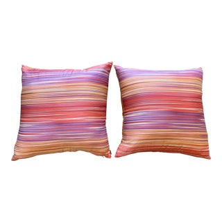Missoni Home Large Decorative Pillows - Pair For Sale